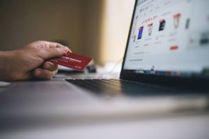 buying something online with a credit card