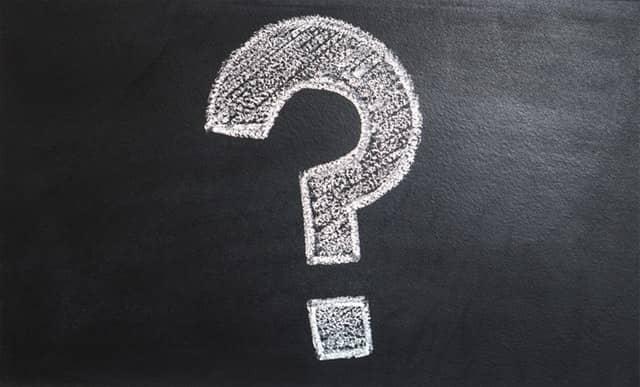 question mark on black board