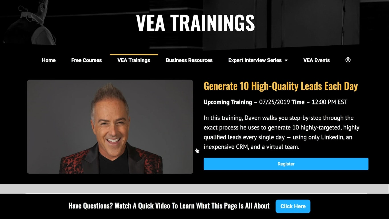 virtual entrepreneur association - vea training series
