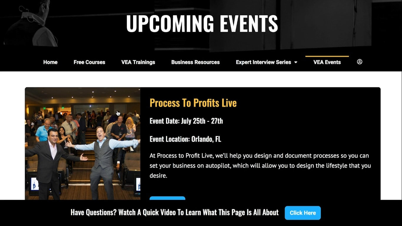 VEA events at virtual entrepreneur association - review