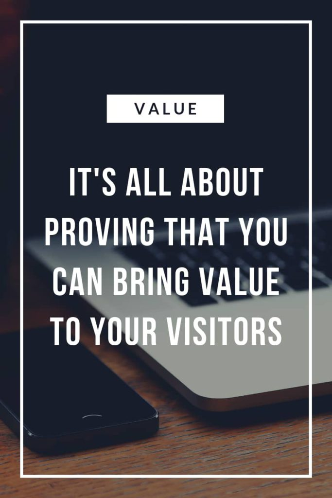 Provide value in your contet
