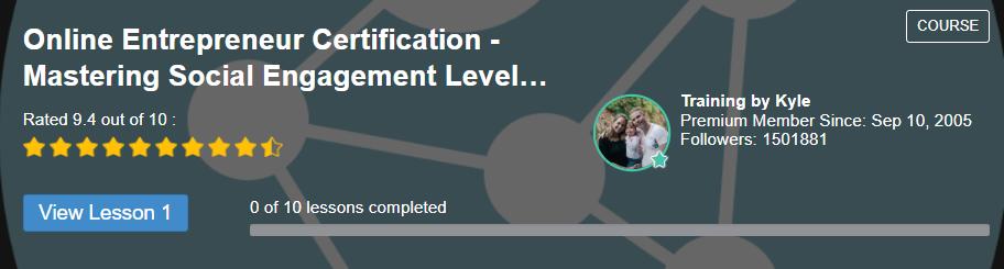 online entrepreneur certification level 4