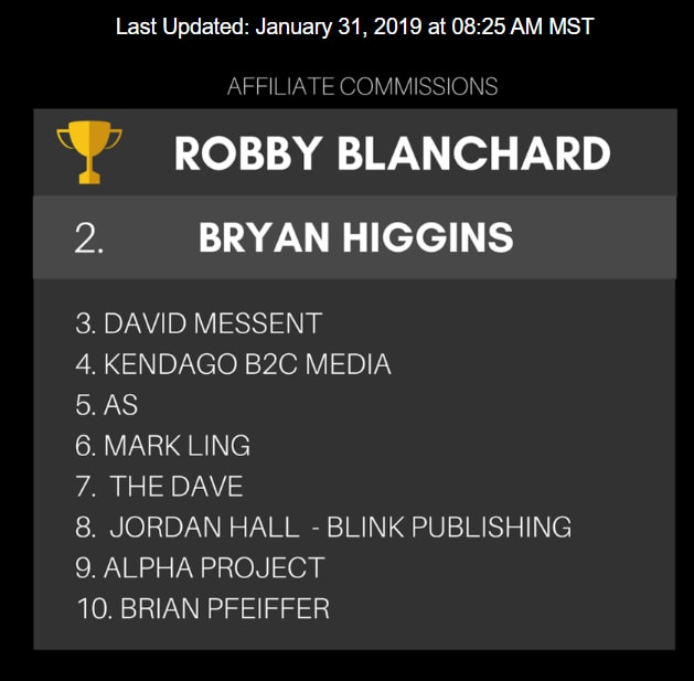 what is commission hero about robby blanchard clickbank leaderboard