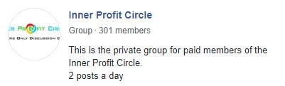 Inner profit circle review fb group