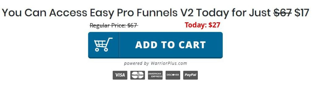 Easy Pro Funnels v2 confusing price tag