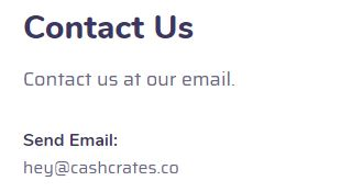 cashcrates co email contanct us