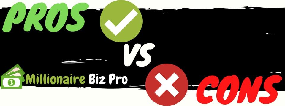 millionaire biz pro review pros vs cons