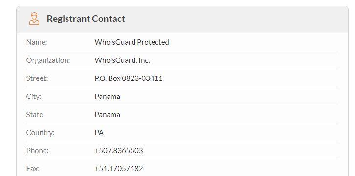 registrant contact information on website kashtree.com