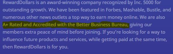 reward dollars review bbb fake claims