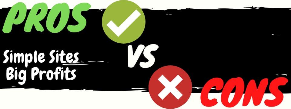 simple sites big profits review pros vs cons