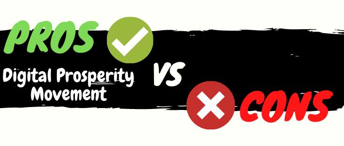 digital prosperity movement review pros vs cons