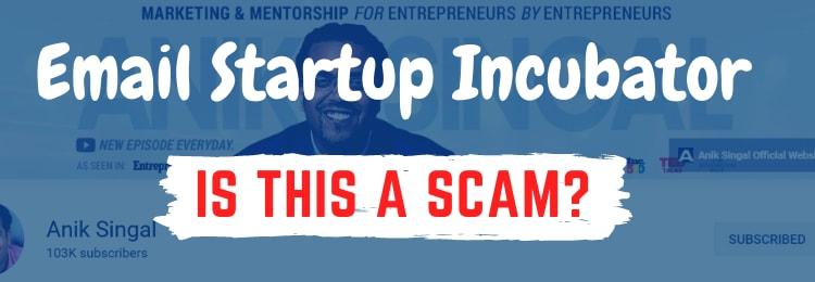 email startup incubator review