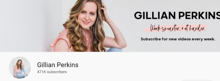 gillian perkins startup society review youtube channel