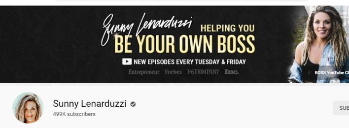 sunny lenarduzzi youtube channel