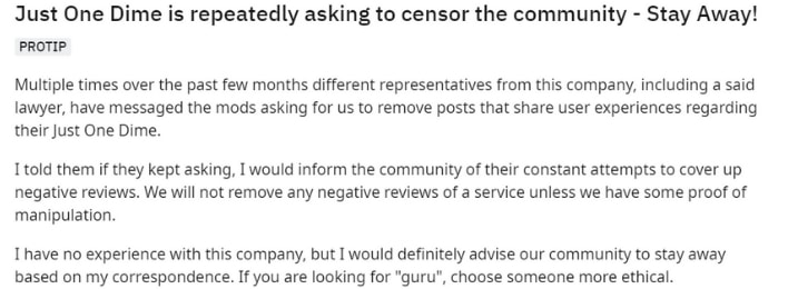 just one dime done for you censorship
