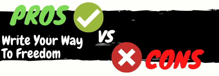 write your way to freedom review pros vs cons