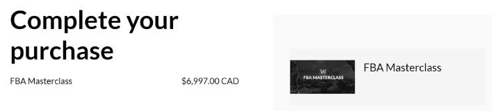 fba masterclass price