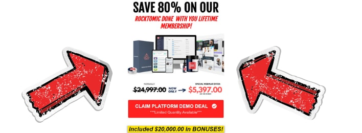 rocktomic review price lifetime membership done for you