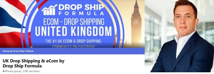 drop ship formula facebook group Simon Vernon