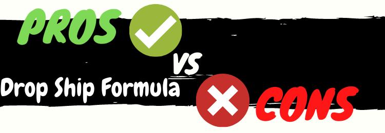 drop ship formula pros vs cons