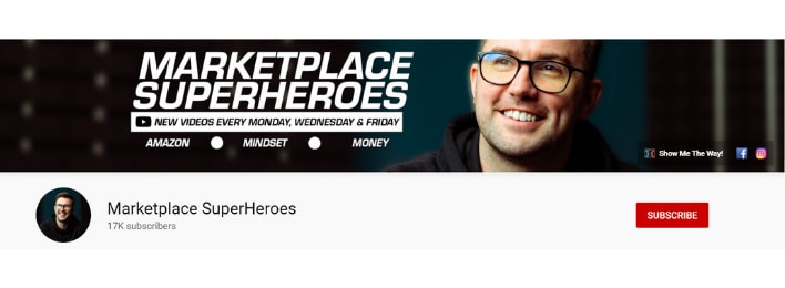 marketplace superheroes youtube channel