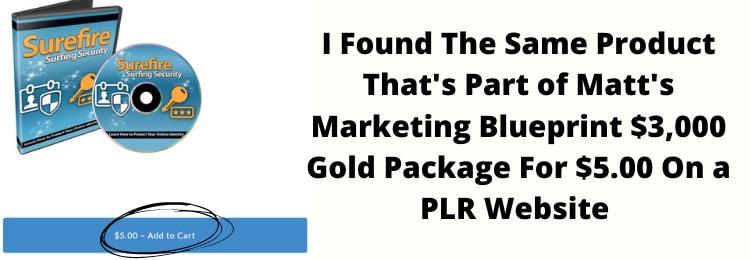 matts marketing blueprint surefire surfing plr product