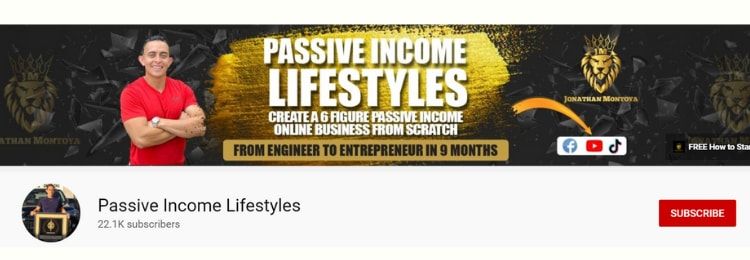 passive income lifestyles youtube channel