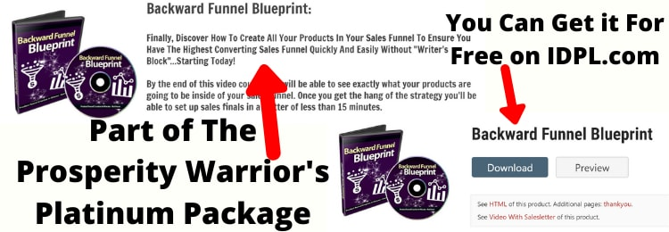 proof that the prosperity warrior's platnimum package PLR products can be downloaded for free